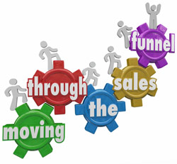 move thru the sales funnel